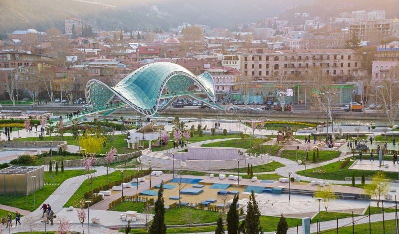 Pokoju most w Tbilisi fotografia stock