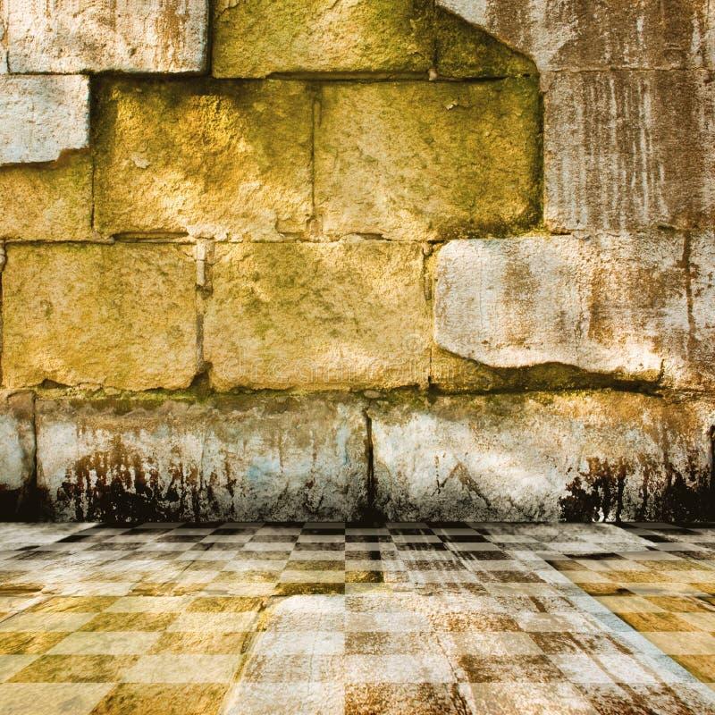 pokoju stary kamień ilustracji