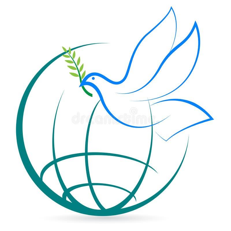 Download Pokoju świat ilustracja wektor. Obraz złożonej z gołąbka - 23588751