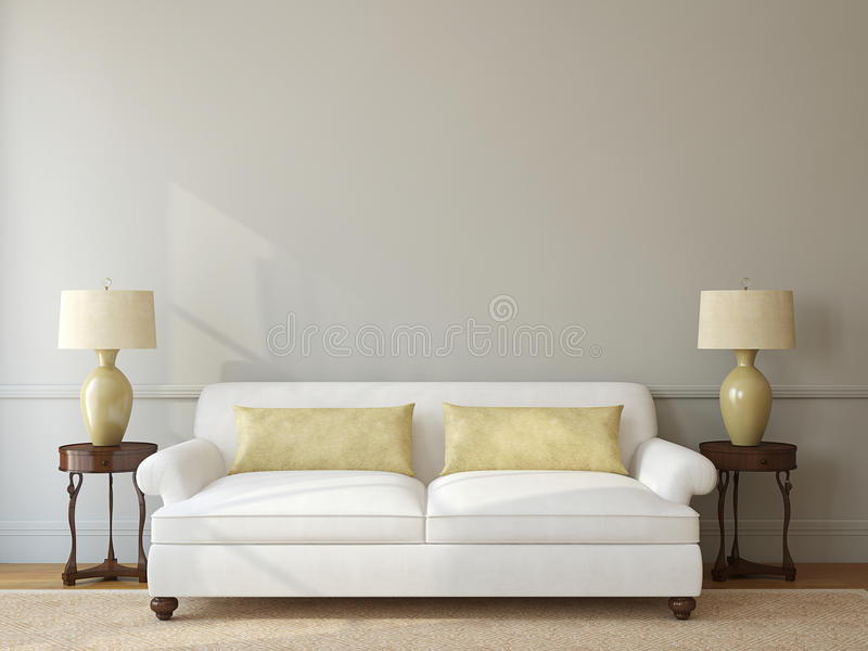 Pokoju wnętrze. ilustracji