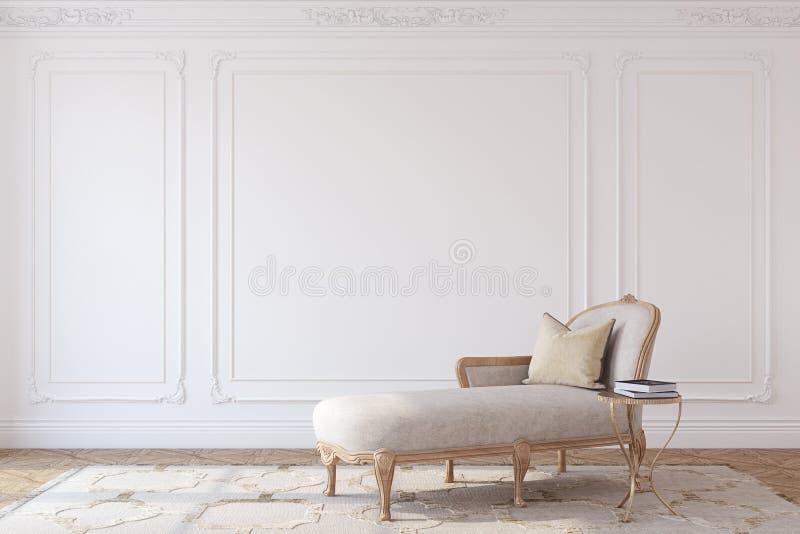 Pokoju wnętrze 3 d czynią ilustracji