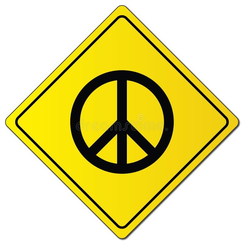 Pokoju znak na koloru żółtego znaku ilustracja wektor