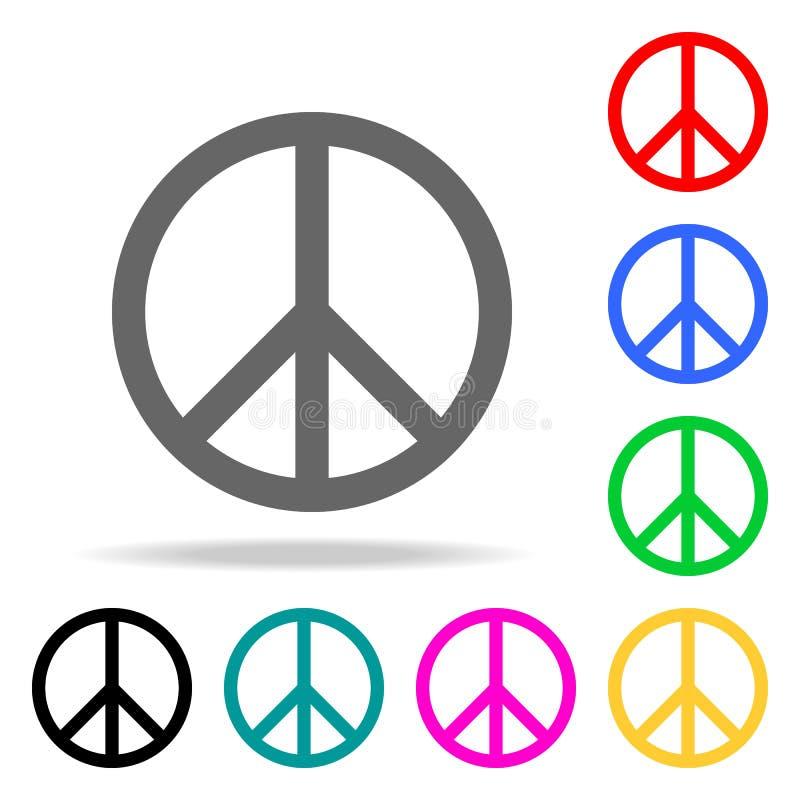 Pokoju znaka ikona Elementy w wielo- barwionych ikonach dla mobilnych pojęcia i sieci apps Ikony dla strona internetowa projekta  royalty ilustracja