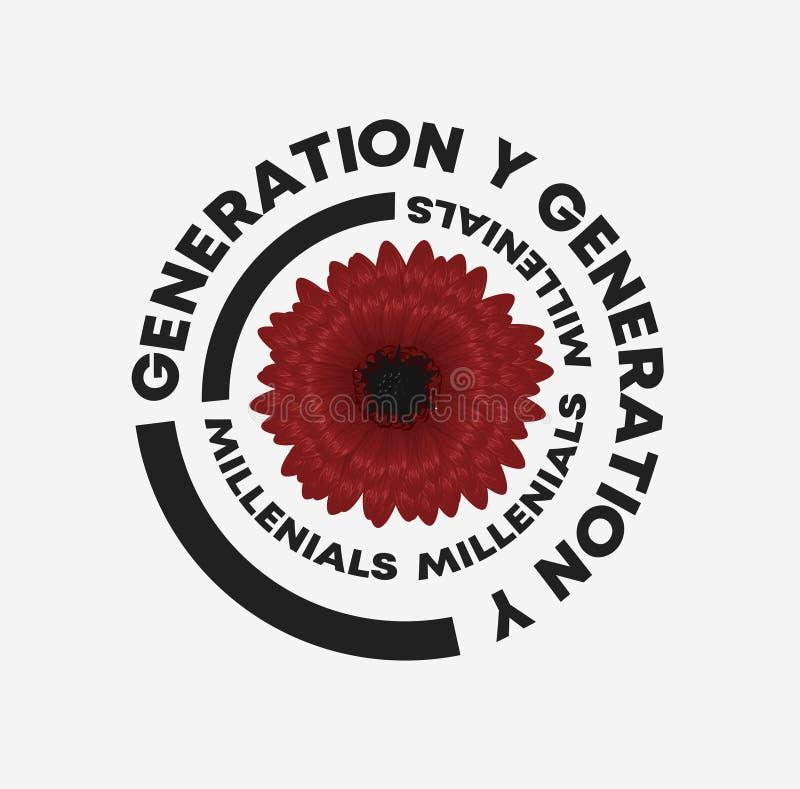Pokolenia Y sloganu dalii ilustracja Doskonali? dla domowego wystroju tak jak plakaty, ?cienna sztuka, du?y ci??ar torba, koszulk ilustracja wektor