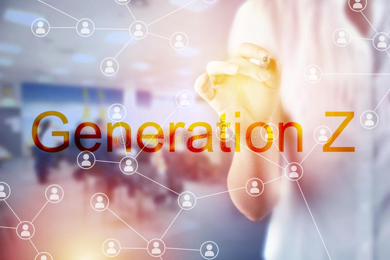 Pokolenia Z biznesu pojęcie obrazy royalty free