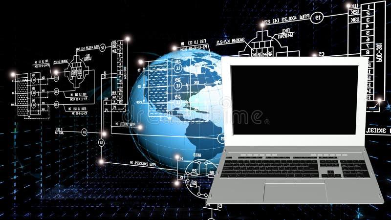 Pokolenie informatyka ilustracji