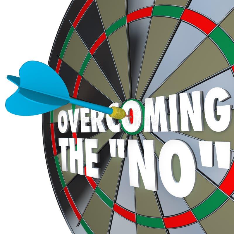 Pokonywać Żadny strzałki oka Dartboard Namawia zgodę ilustracja wektor