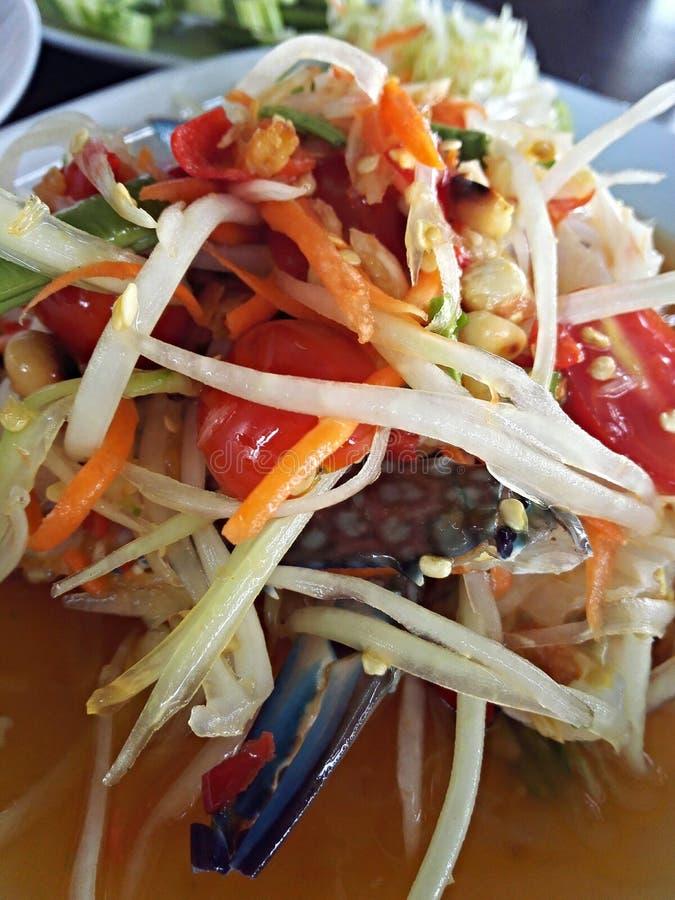 Pokpok della papaia di Somthai fotografia stock