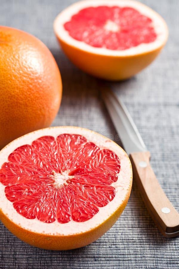 pokrajać grapefruitowa czerwień zdjęcia royalty free