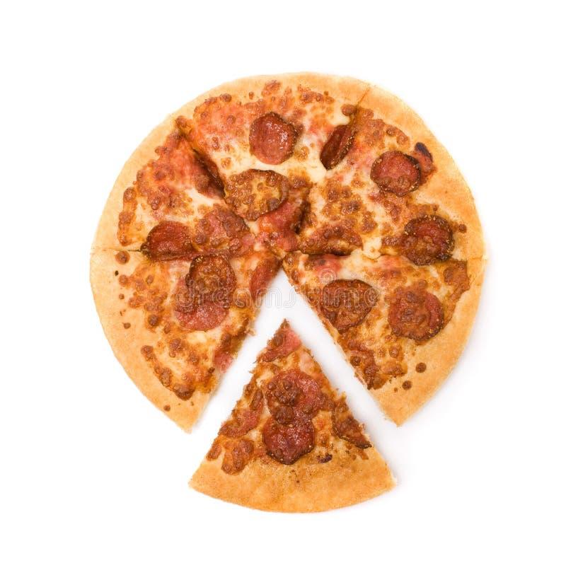 pokrajać pepperoni pizza zdjęcie royalty free