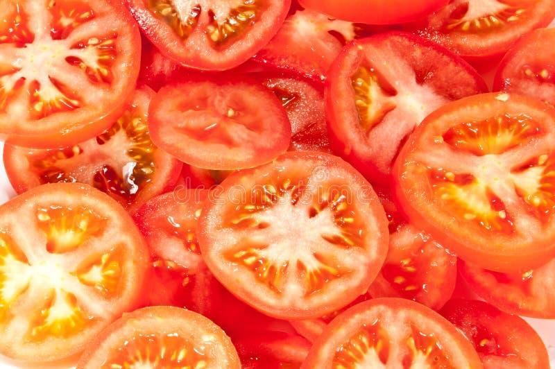 pokrajać tomatoe zdjęcia royalty free