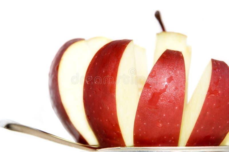 pokroić jabłka fotografia stock