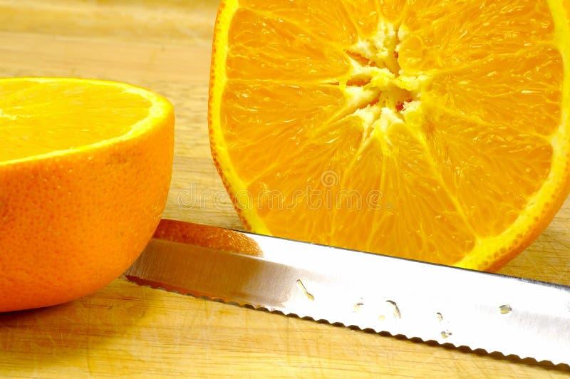 pokroić pomarańcze obrazy stock