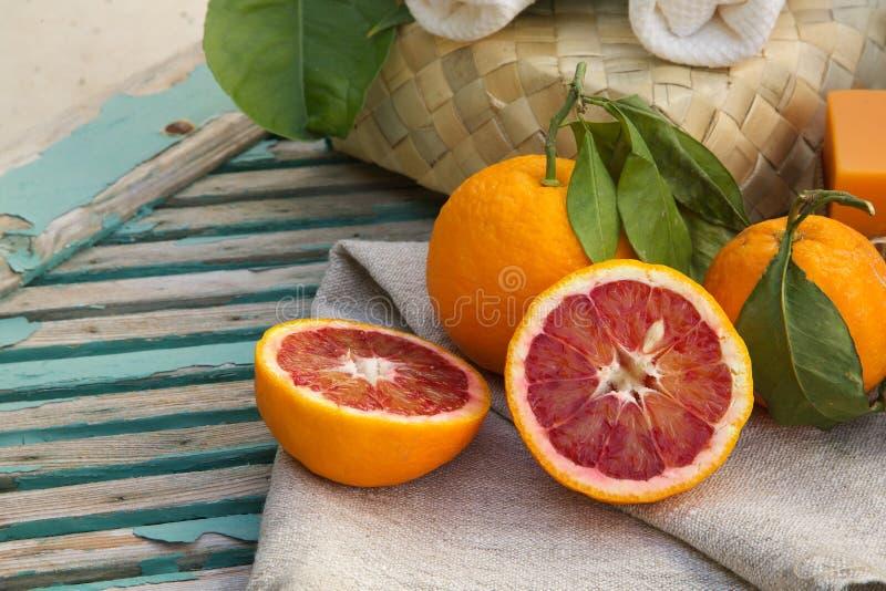 Pokrojone pomarańcze zdjęcie royalty free