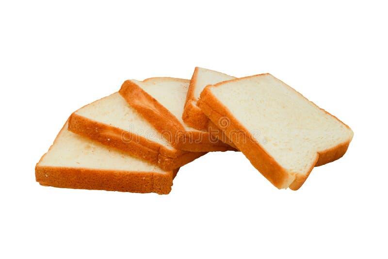 Pokrojony †‹â€ ‹chleb z odosobnionym na białym tle obraz stock