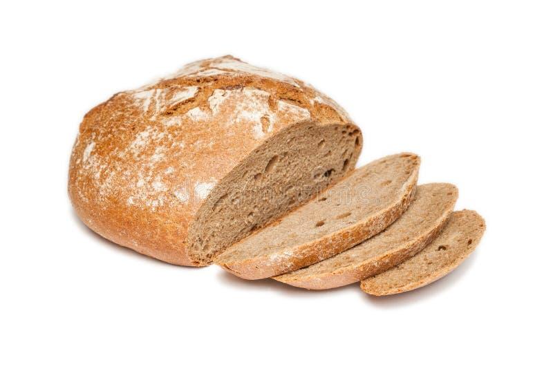 Pokrojony chleb (odizolowywający) obraz stock