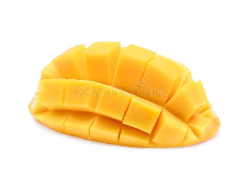Pokrojony dojrzały mango odizolowywający na bielu obrazy royalty free