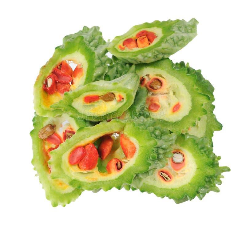 Pokrojony gorzki melon royalty ilustracja
