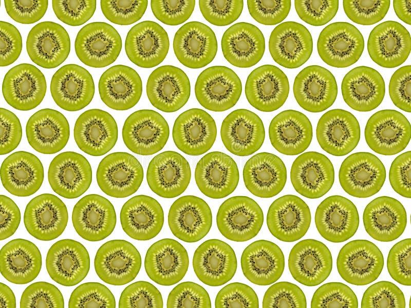Pokrojony kiwi owoc wzór, przekrawający kiwi fotografia royalty free