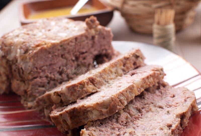 Download Pokrojony Meatloaf Zbliżenie Obraz Stock - Obraz złożonej z wygoda, piec: 28952721