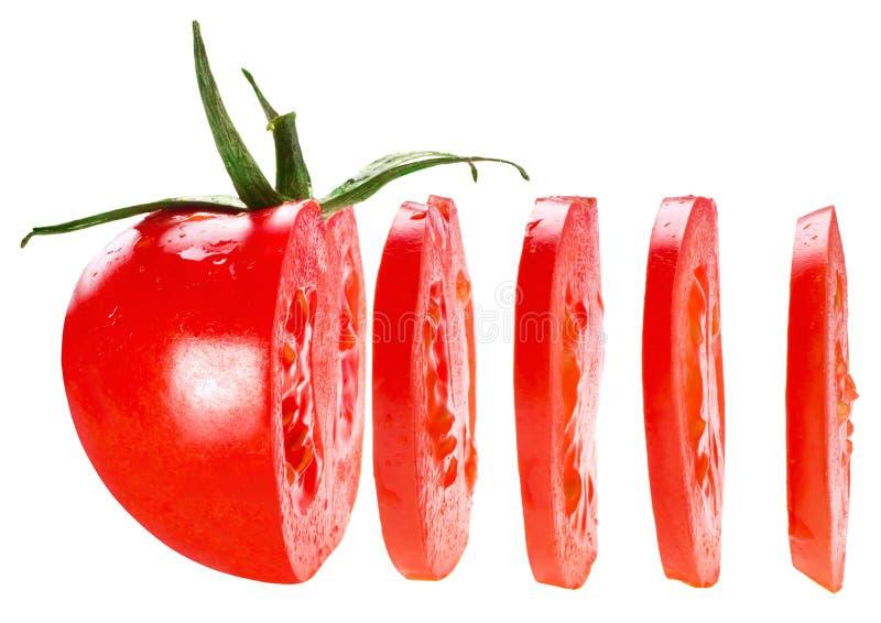 Pokrojony pomidor obrazy royalty free