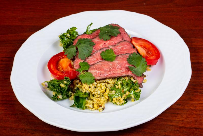 Pokrojony wołowina stek obrazy stock