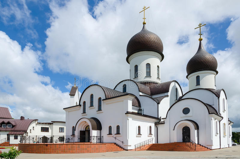 Pokrovo- Nicholas Church, Klaipeda, Lithuania. The church in honor of the Protection of the Mother of God and in the name of Saint Nicholas (Pokrovo Nicholas royalty free stock images