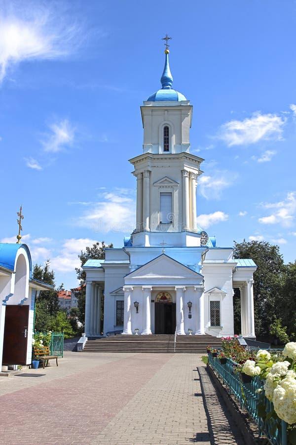 Pokrovsky大教堂在市巴拉诺维奇在白俄罗斯 图库摄影