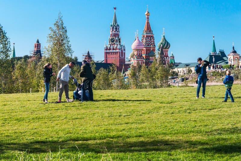 Pokrovsky St basilu Katedralny ` s Kremlin od P i Moskwa fotografia stock