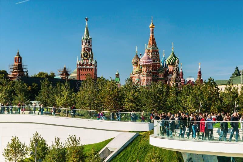 Pokrovsky St basilu Katedralny ` s Kremlin od P i Moskwa zdjęcia royalty free