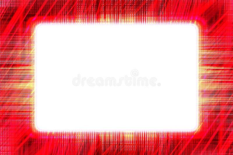 Pokrywać się czerwonej linii ramę royalty ilustracja