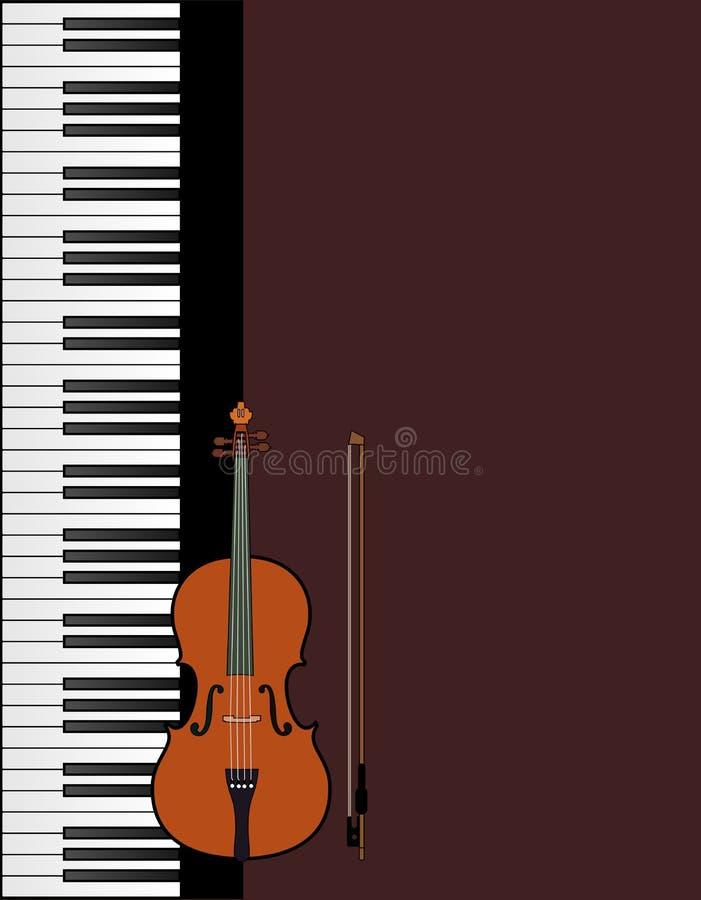 Pokrywa dla broszurki z pianinem z skrzypce royalty ilustracja