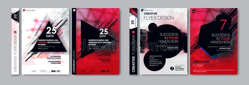 Pokrywa szablony ustawiający z graficznymi geometrycznymi elementami Obowiązujący dla ulotki, okładkowy sprawozdanie roczne, plak ilustracji