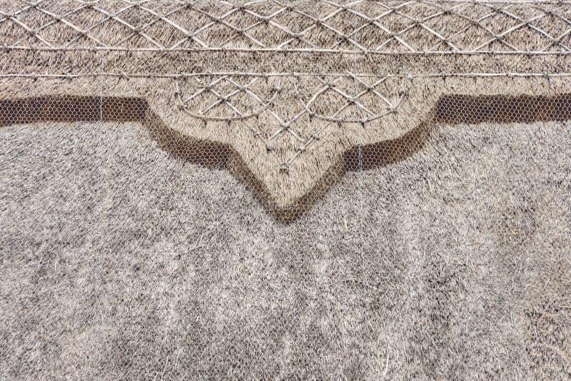Pokrywający strzechą chałupa dach Południowy Zachodni Anglia zdjęcie royalty free