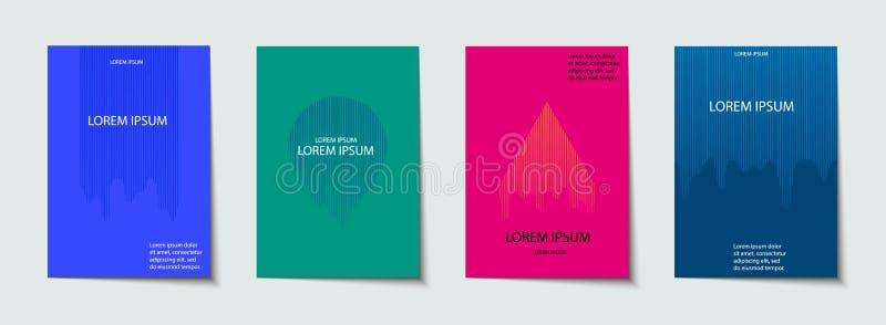 Pokrywy projektują set Abstrakt, minimalny, geometryczny wzór, ilustracja wektor