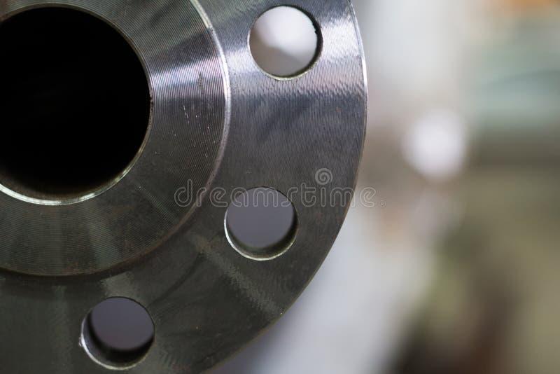 Polędwicowa spawka nozzle dla ciśnieniowego naczynia węgla stali tła zdjęcia royalty free