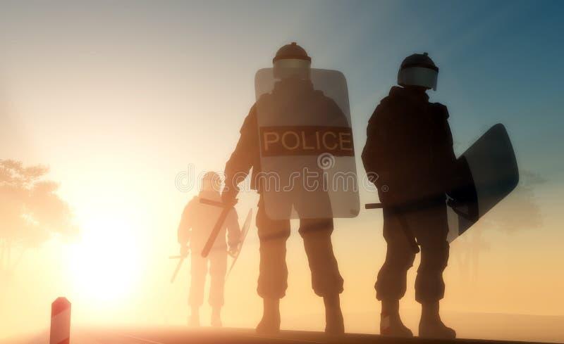 Polícia. ilustração royalty free