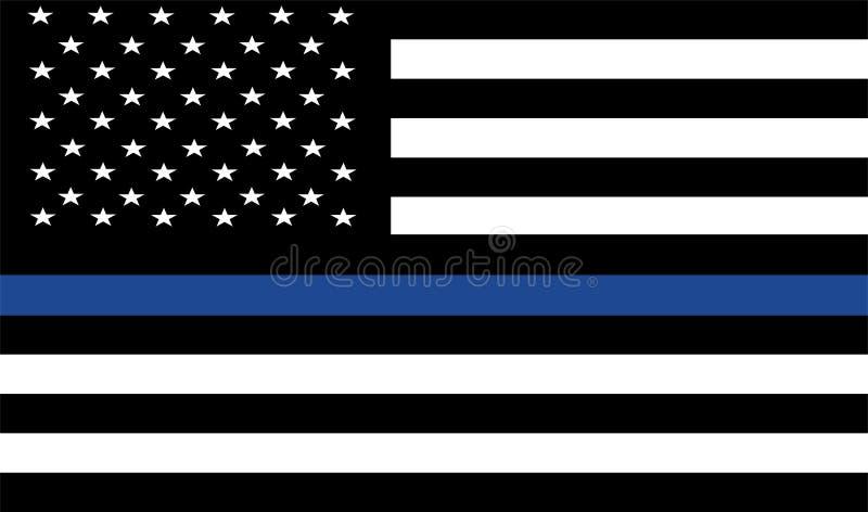 A polícia americana embandeira ilustração royalty free