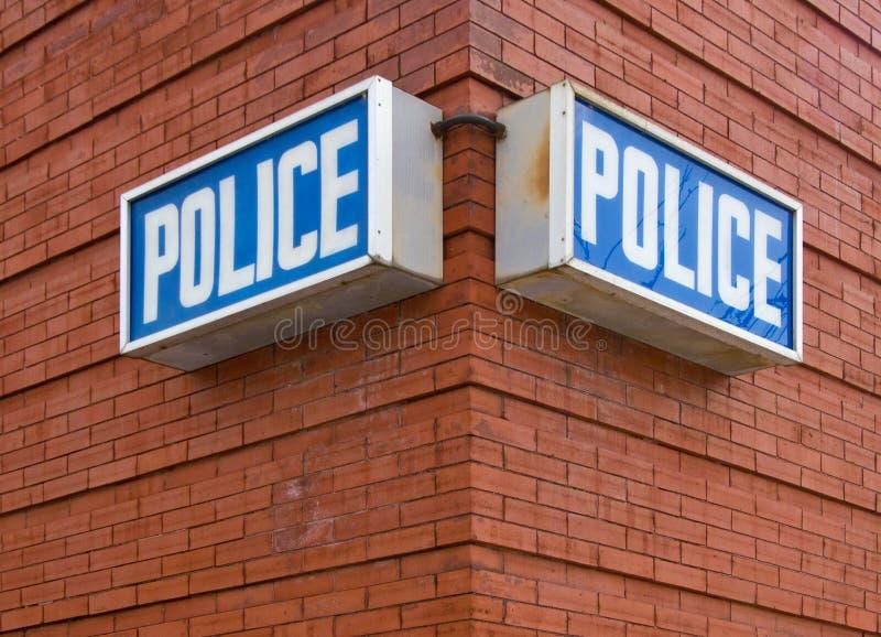 A polícia assina fotografia de stock
