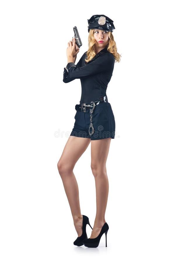 Polícia atrativa da mulher fotografia de stock royalty free
