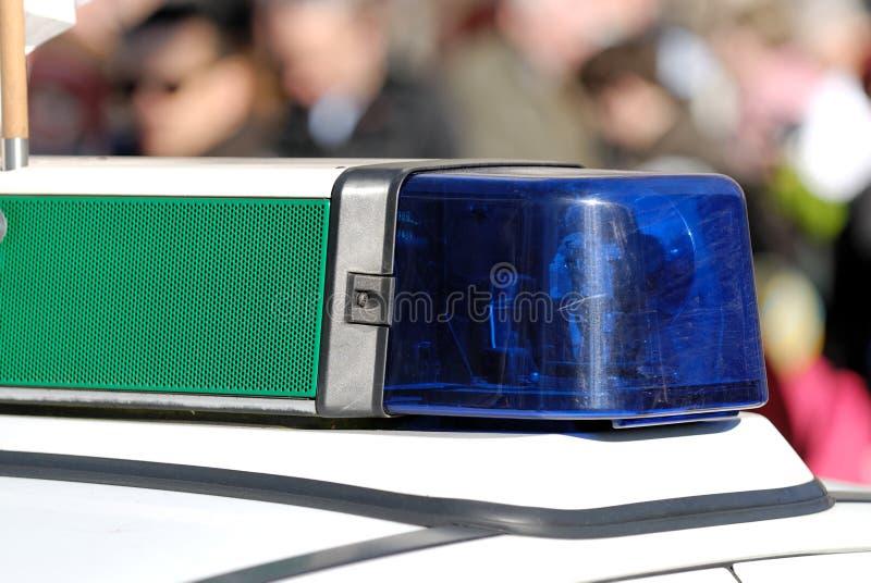 A polícia azul ilumina-se foto de stock royalty free