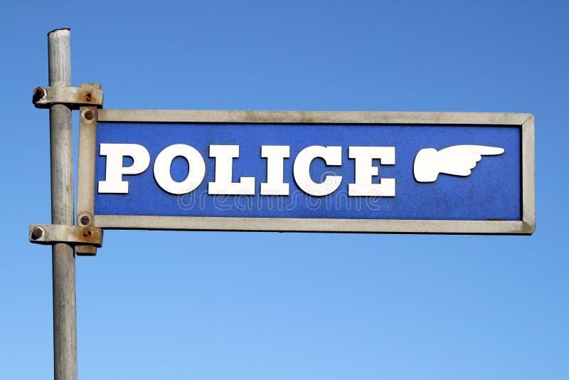 A polícia britânica assina imagens de stock royalty free