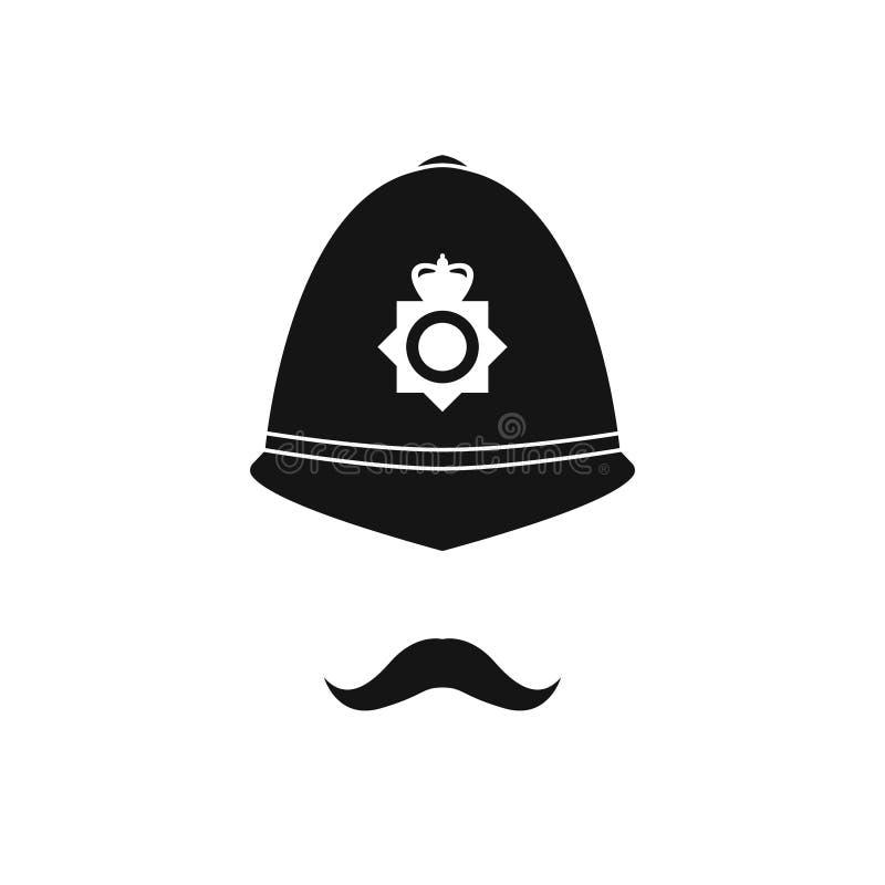 Polícia britânico no capacete Avatar da polícia ilustração do vetor