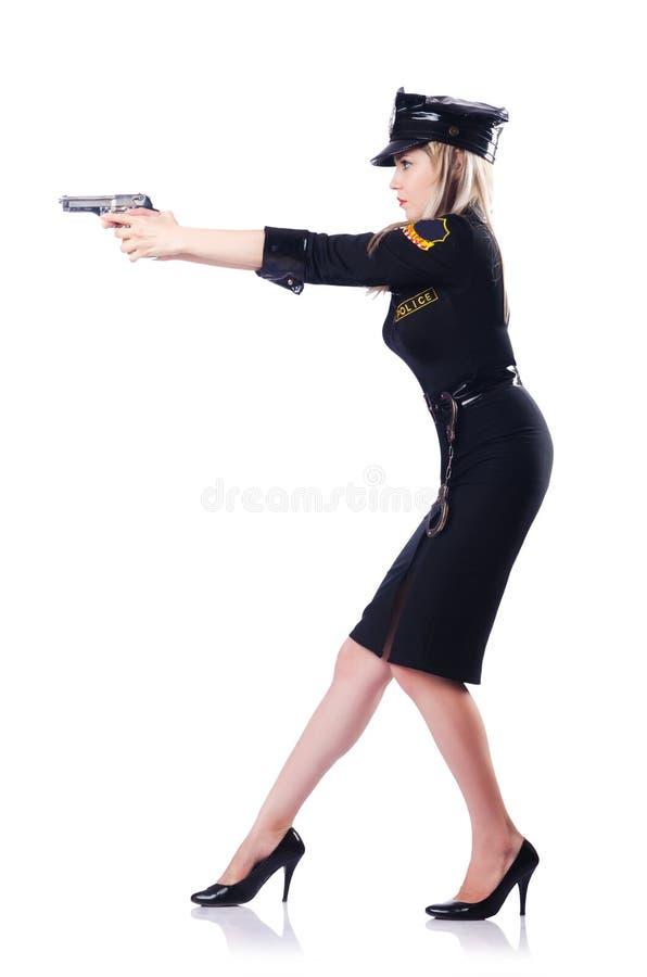 Polícia da mulher isolada imagem de stock royalty free
