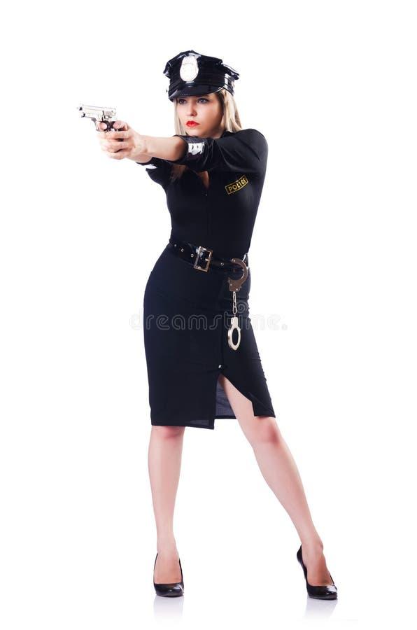 Polícia da mulher isolada imagem de stock