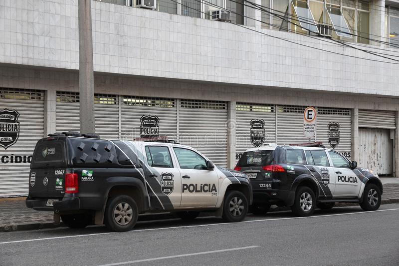 Polícia de Brasil imagens de stock royalty free