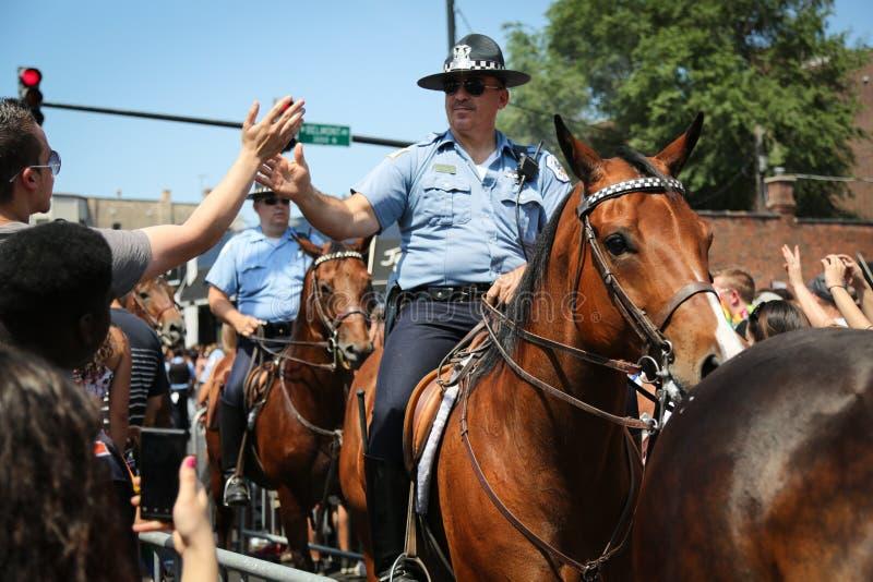 Polícia de Chicago em Horseback fotografia de stock