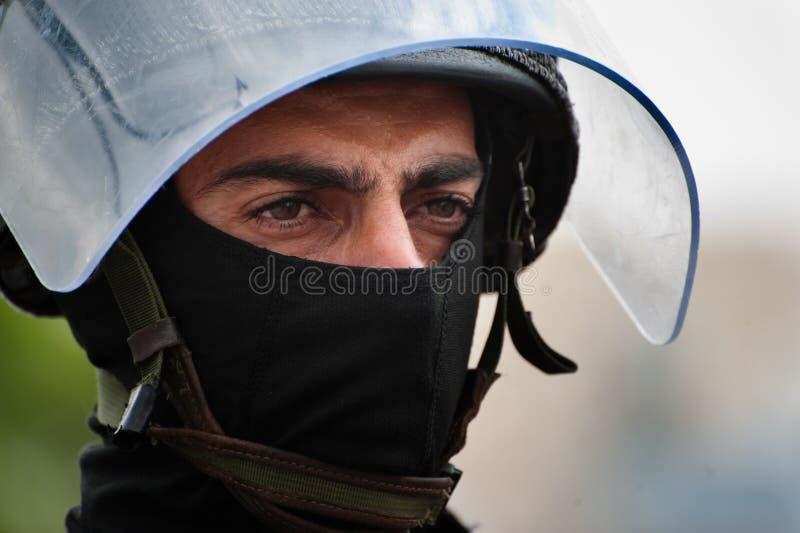 Polícia de motim israelita imagens de stock