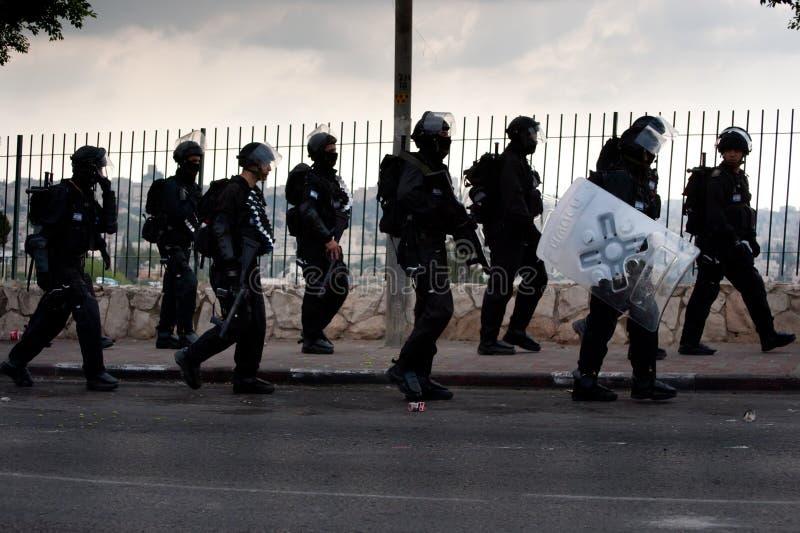 Polícia de motim israelita fotografia de stock royalty free