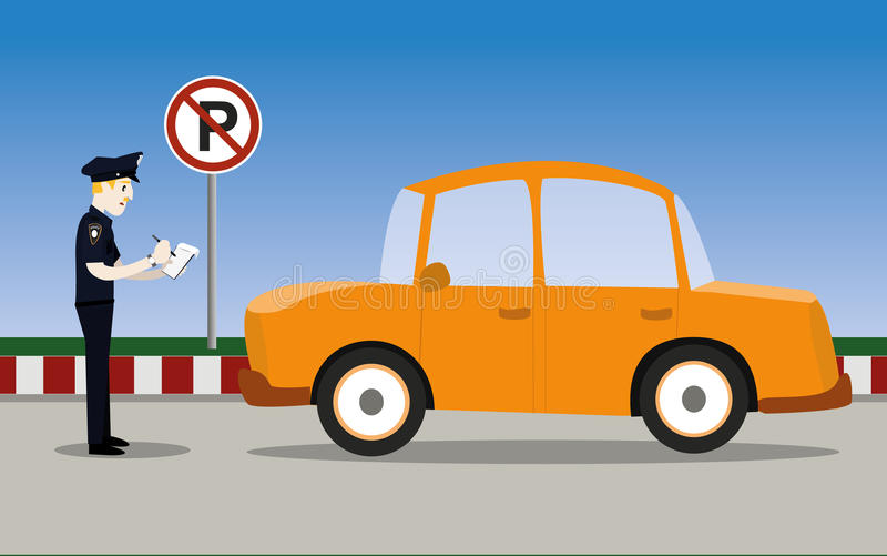 Polícia de tráfego ilustração royalty free